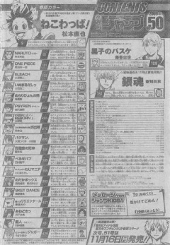 Table of Contents. Kuroko no Basket e Gintama